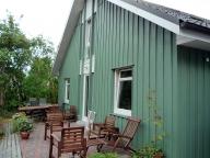 gruenes Holzhaus