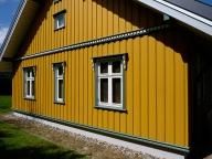nordisches Holzhaus Giebelseite