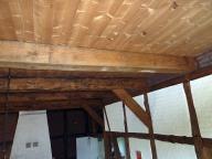 Reetdachkate Holzdecke